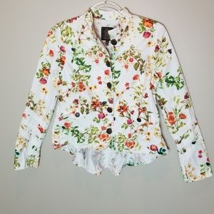 Alice Through the Looking Glass Floral Jacket, XS
